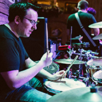 Will Browar playing the drums